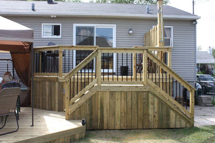 patio de bois trait recherche google brico pinterest terrasse villes et montr al. Black Bedroom Furniture Sets. Home Design Ideas