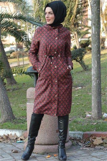 Ay Giyim Suet Trenç Kot Kap Kiremit 2062