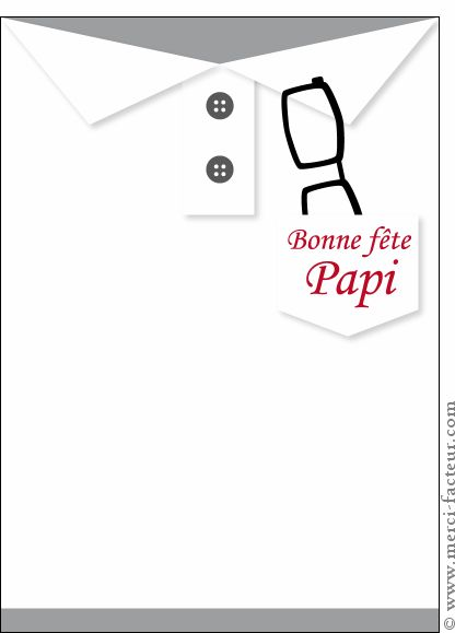 Carte Bonne fête papi sur un polo pour envoyer par La Poste, sur Merci-Facteur !