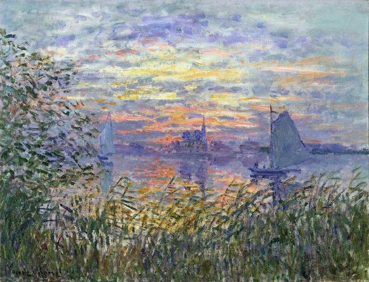"""Sunset on the Siene"" -- 1874 -- Claude Monet"