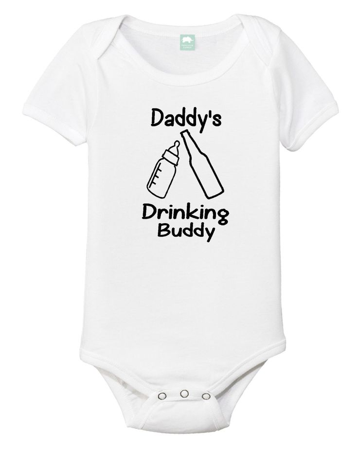 Daddy's Drinking Buddy Onesie, Funny baby onesie, Beer bottle, Baby bottle, Dad's drinking buddy, Drinking buddy, Fathers day, Gift for dad by 92zeroDesigns on Etsy