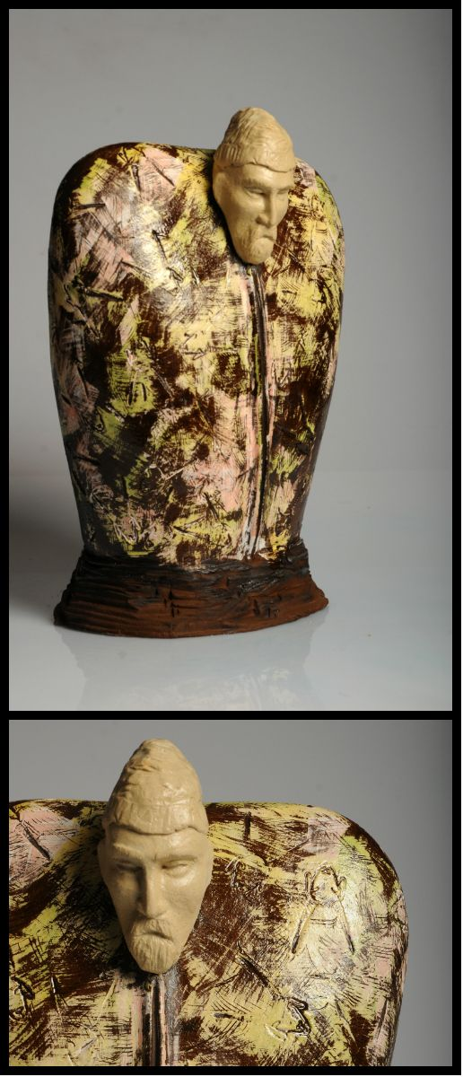 """The Shepherd"" - Ceramic Sculpture by Efe Turkel"