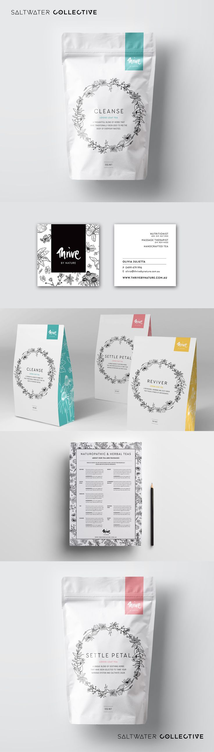 Thrive By Nature Teas - Hand-made and packaged with heart