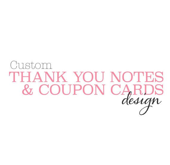 Custom THANK YOU Cards for your etsy shop  Digital  by HouseofHays