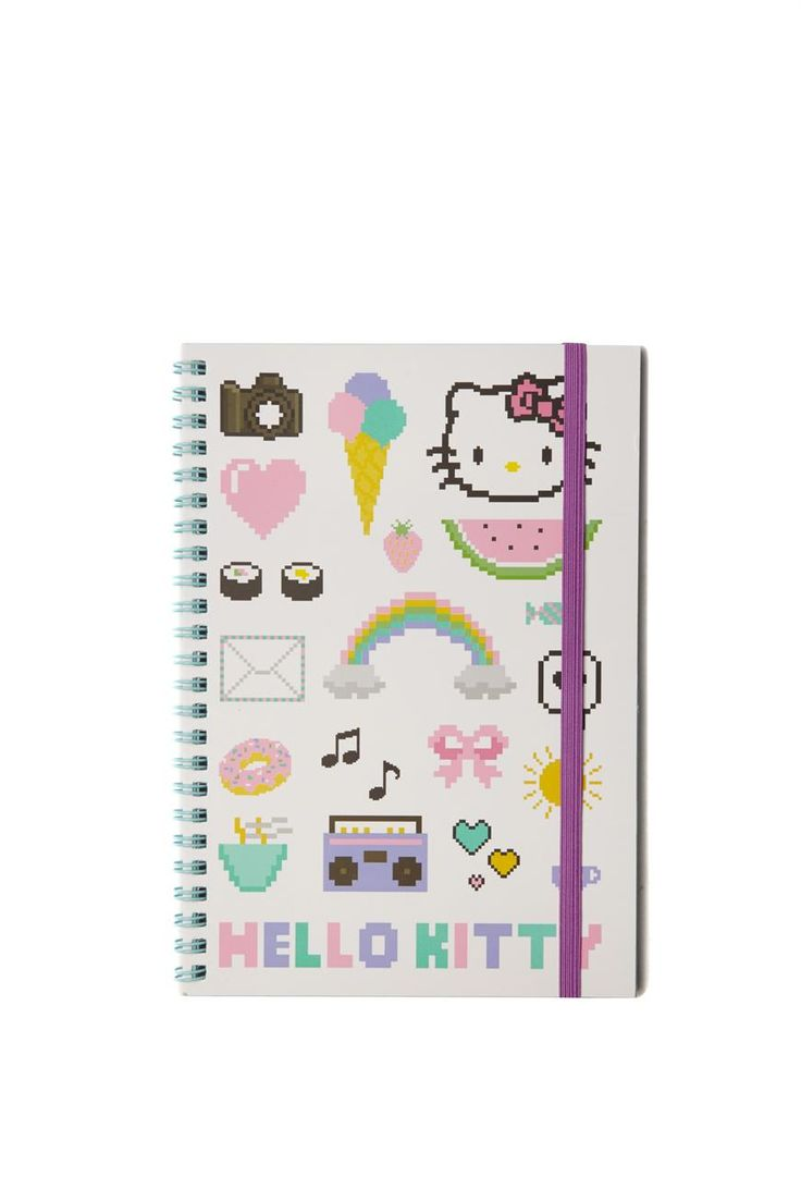 a5 spinout notebook, HELLO KITTY COLLAGE