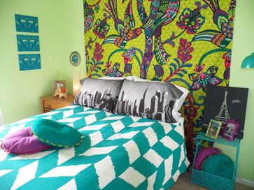 Bohemian Chic Teenage Bedroom eclectique-enfant