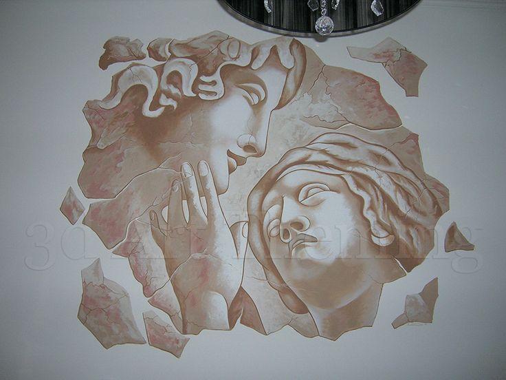 τοιχογραφία σε σαλόνι