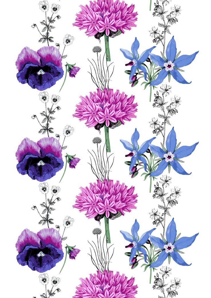 Villisalaatti, lila, design By Tanja Orsjoki