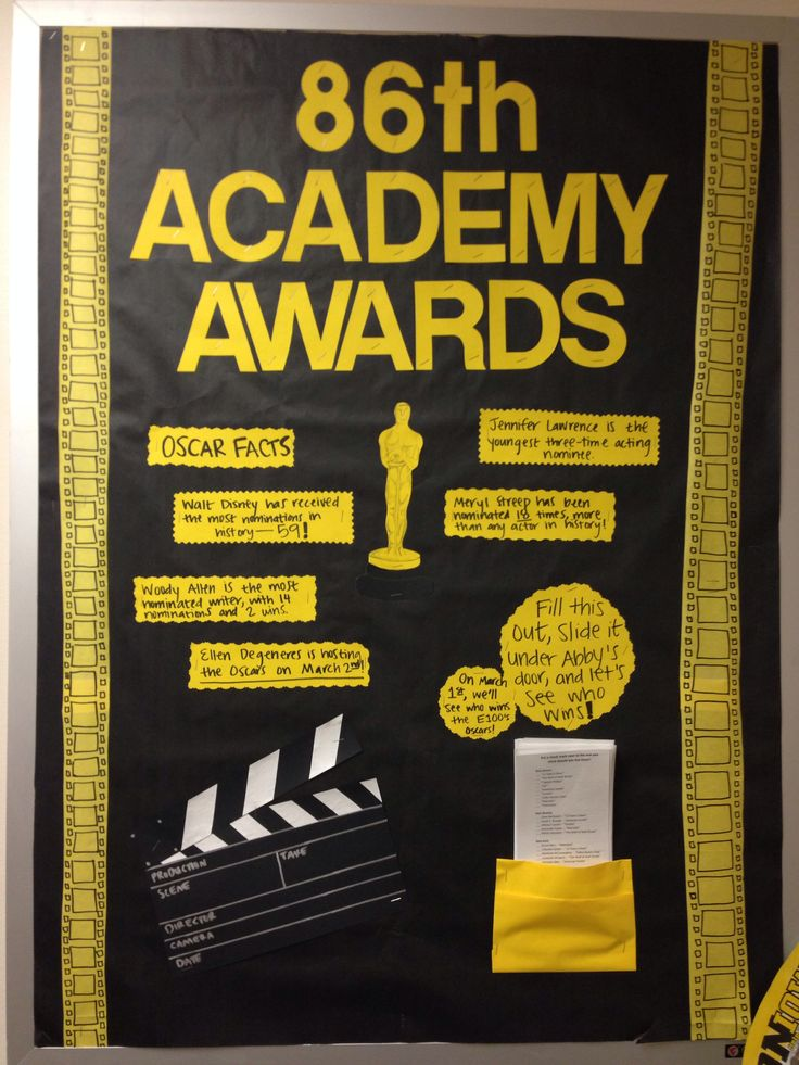 Academy Awards And Bulletin Boards On Pinterest