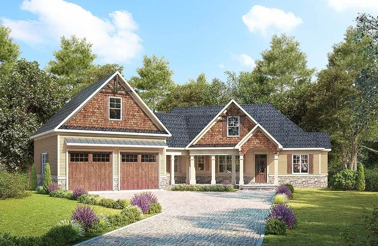 Plan 36079dk craftsman with angled garage with bonus room for Craftsman house plans with bonus room