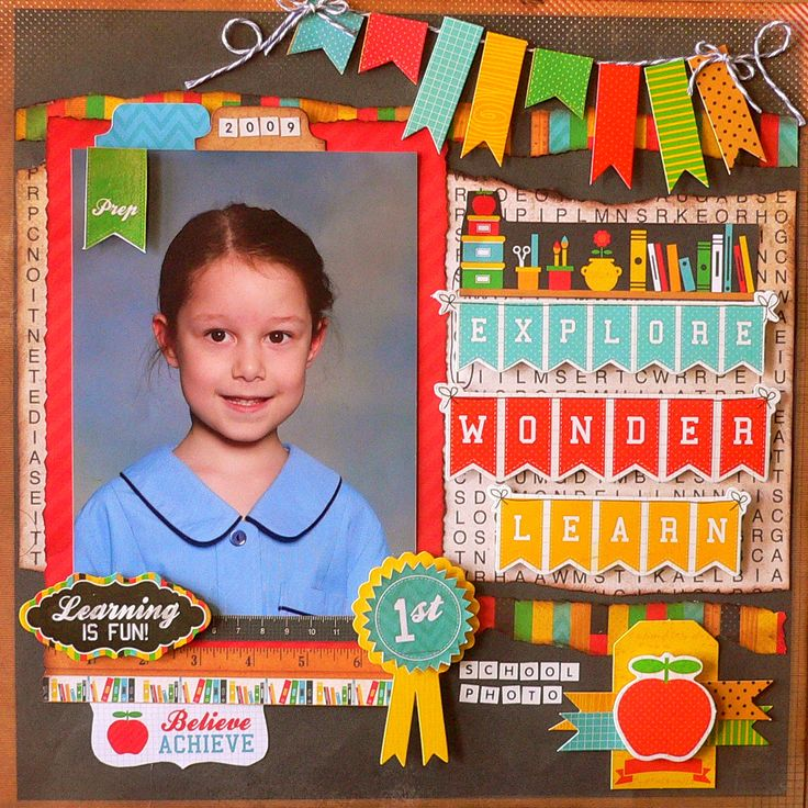 Best 25 school scrapbook layouts ideas on pinterest school class act layout adriana bolzon pronofoot35fo Image collections