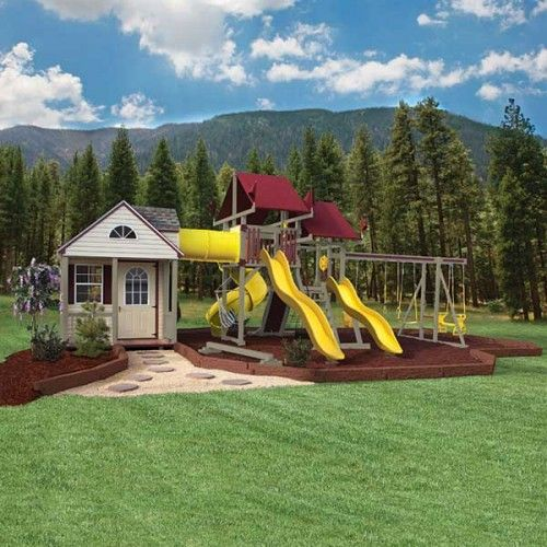 Playhouse Swing Set Plans - WoodWorking Projects & Plans