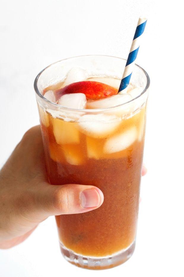 Homemade Peach Iced Tea