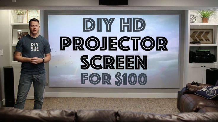 Projector screens can be pretty pricey but they bring your home theater to the next level. Instead of spending a bunch of cash, this YouTuber shows us how to make one for only $100. Now all you need is comfy chairs and popcorn! Watch his tutorial to learn how to create a better movie-viewing experience.