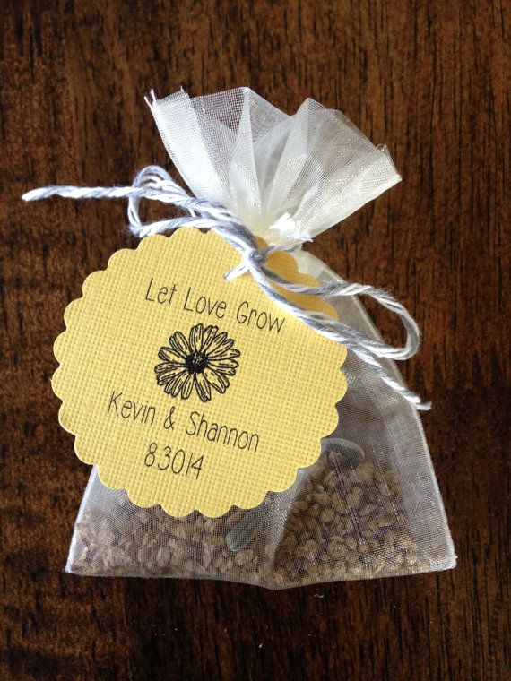 Flower Seed Wedding Favors Events Weddings Bridal Baby Showers Funerals Etc Base Price Is For 50