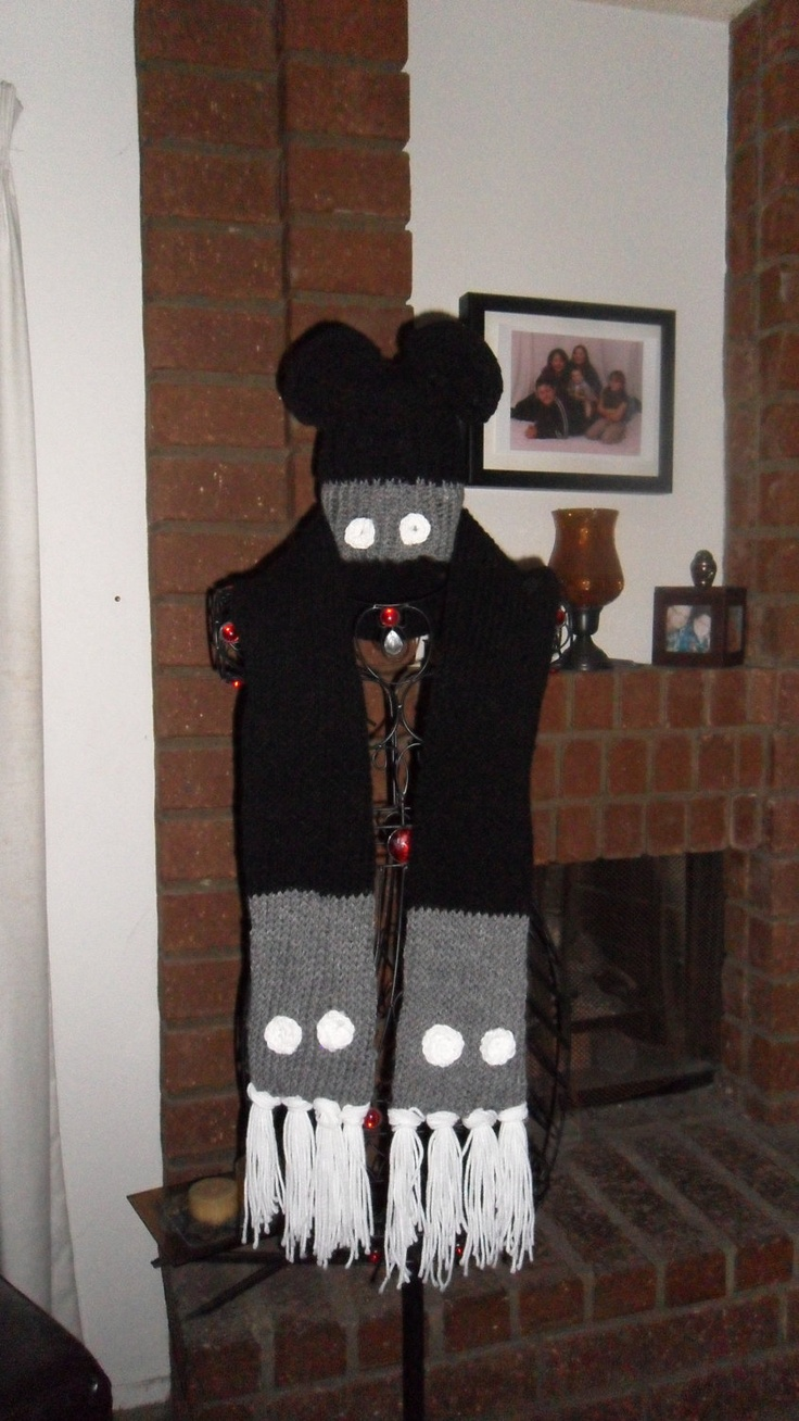 Steamboat Willie inspired scarf. $20.00, via Etsy.