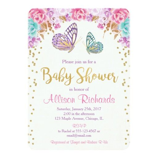 Butterfly Baby Shower Invites: 346 Best Butterfly Baby Shower Invitations Images On