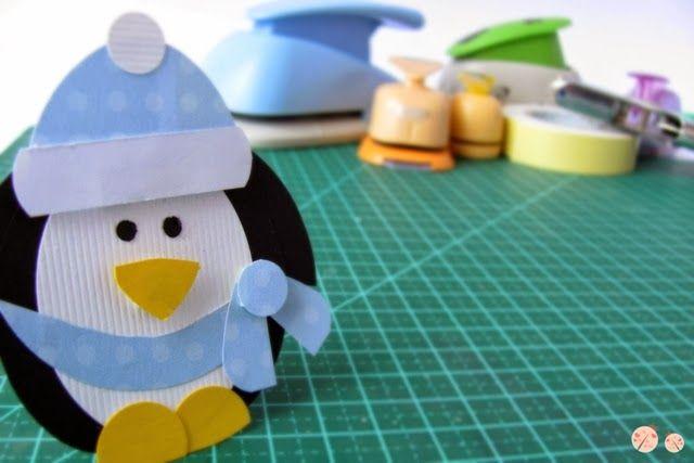 passo a passo - pinguim - punch art - penguin - tutorial
