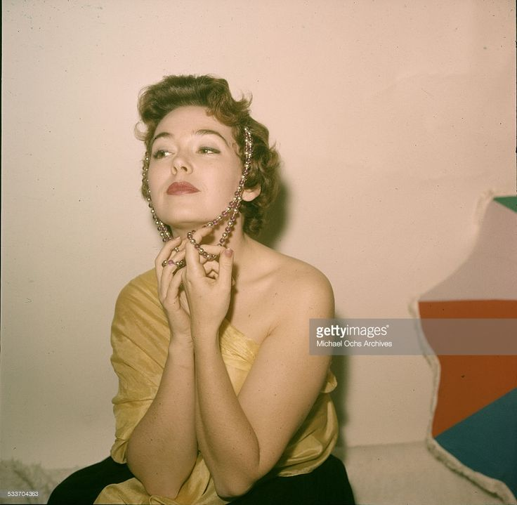 Actress Barbara Rush poses for a portrait at home in Los Angeles,CA.