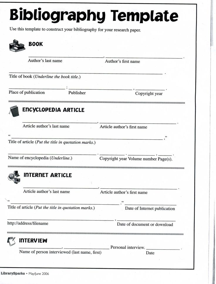 writing a biography template elementary school