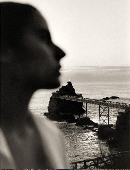 Claude Nori: Isa au Rocher de la Vierge, 1990  Interesting composition