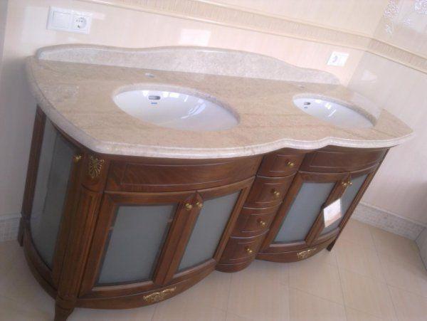 Столешница для ванной из мрамора Delicato Cream | Столешницы из мрамора для ванных комнат | Столешницы для ванной из натурального камня | Столешницы для ванных комнат | Столешницы из натурального и искусственного камня | Изделия из камня | Архитектура камня