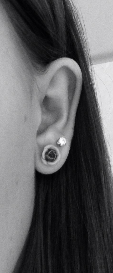 Rose||diamond||double lobe piercing