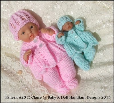 "Lacy Feathered Matinee Set 4-8"" dolls-ashton drake, handful, sculpt, ooak, dolls clothes, knitting pattern, reborn, babydoll handknit designs"