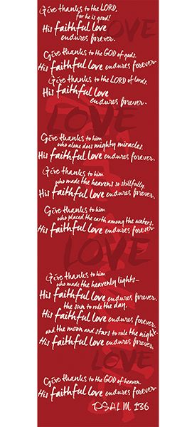 Love Scarf  -  Psalms 136:1-9