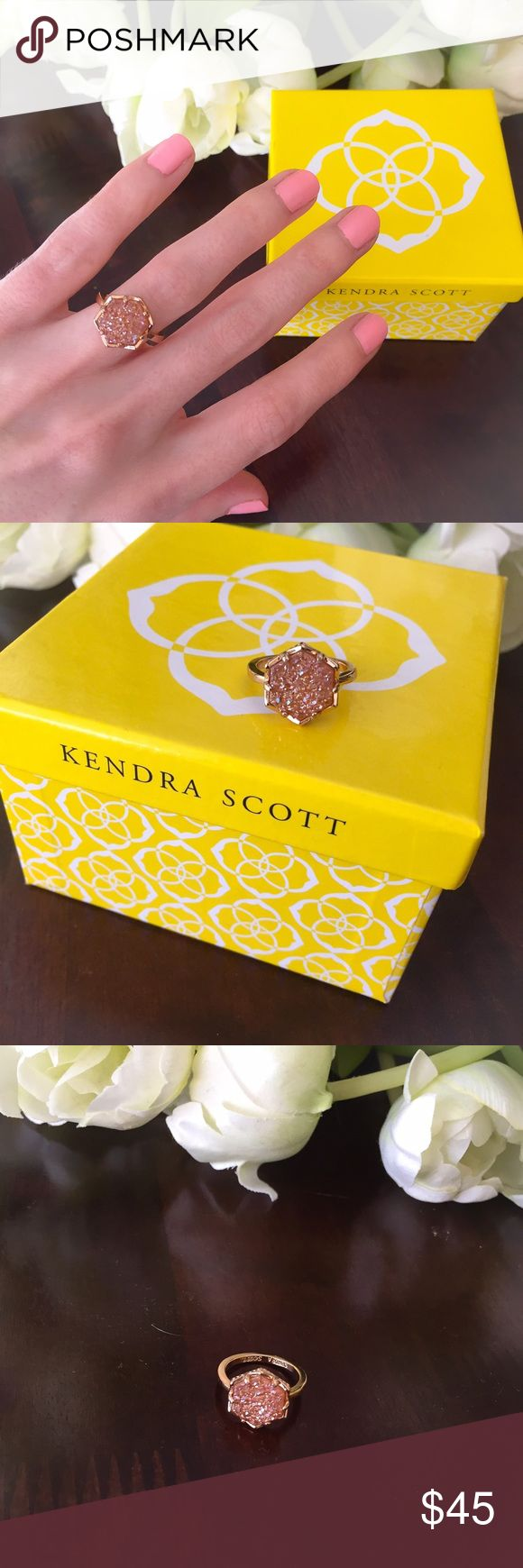 """Kylie Ring in Champagne Drusy - Kendra Scott Beautiful Kendra Scott """"Kylie"""" ring 