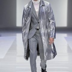"""""""The new universe of Versace – Fibre optic tracksuits, space-age metallic trenches, sleek tailoring and astrological prints. The Versace Fall/Winter 2016 man is a pioneer and his ambition is as big as the universe. #VersaceMenswear"""""""