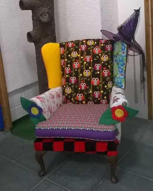 custom made magical story chair by SRUpholstery on Etsy