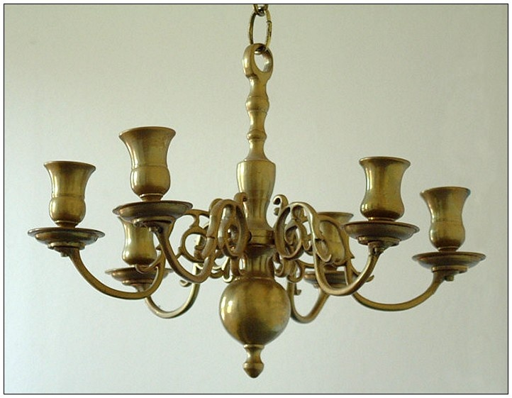 Used Antique Brass Chandelier