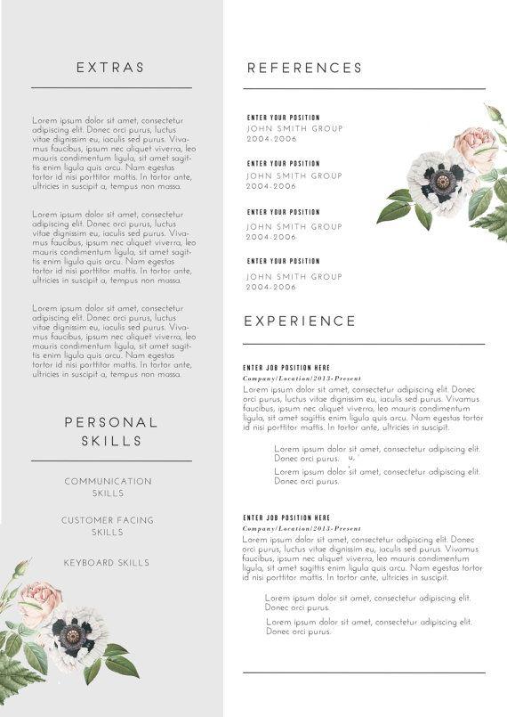 Custom CV Template / Word PSD /Custom Cover by EmilyARTboutique