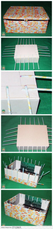 toepassing van vlechten met papier