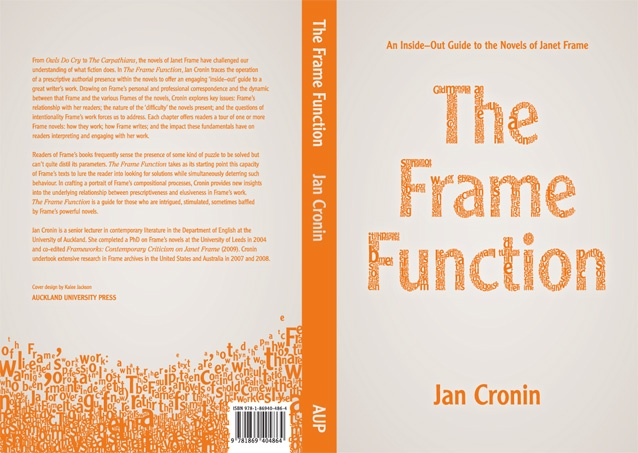 The Frame Function typographic book cover for Auckland University Press, by Studio Kalee Jackson www.kaleejackson.com