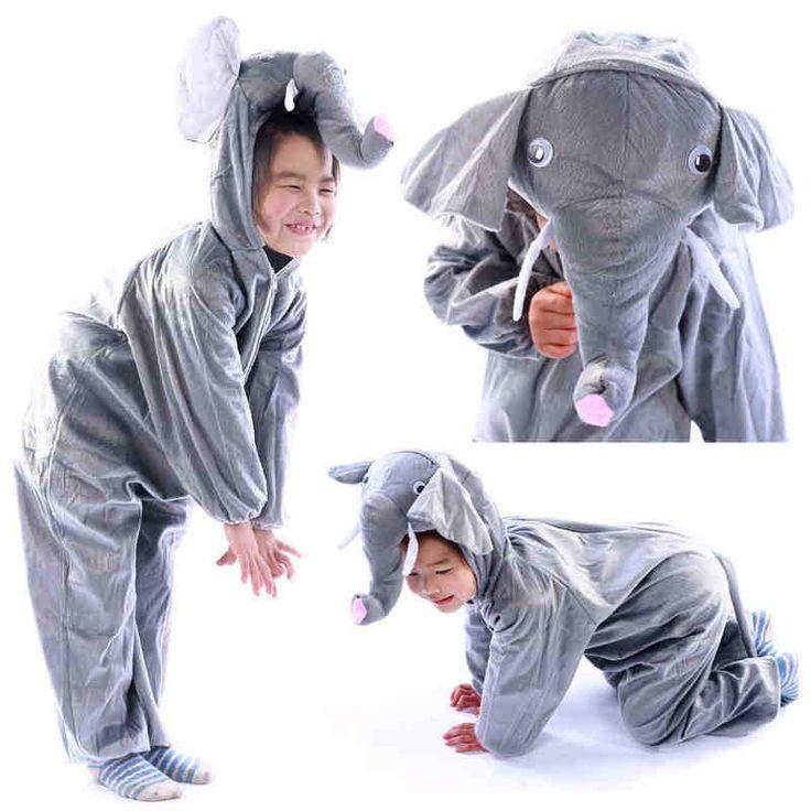 Детские карнавальные костюмы форма слона дети комбинезон сценическое шоу одежда хеллоуин костюм для мальчиков и девочек