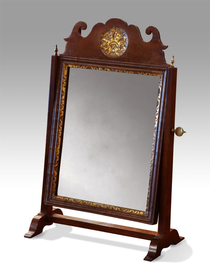 Antique swinging table mirror necessary words