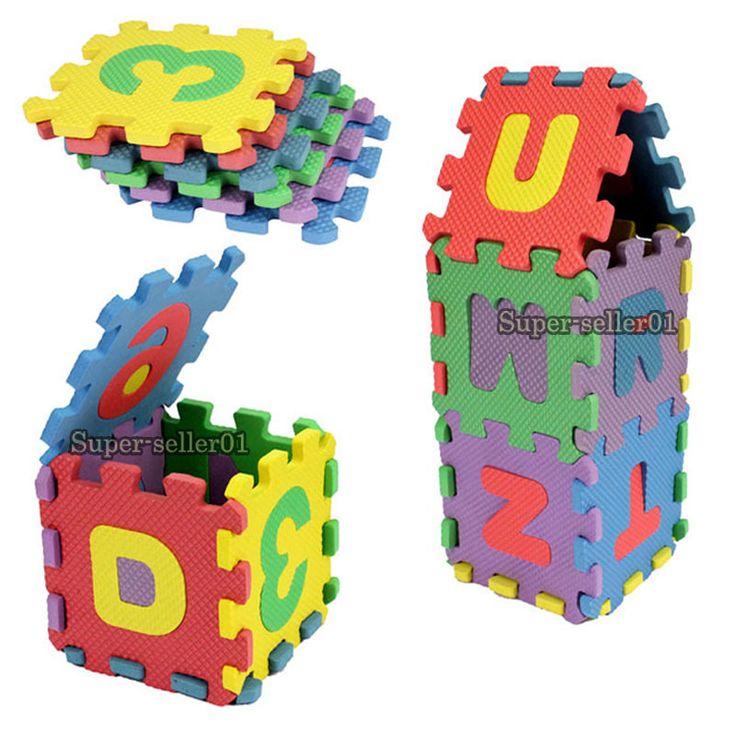 36pcs Unisex Mini Puzzle Kid Educational Toy Alphabet Letters Numeral Foam Mat #UnbrandedGeneric