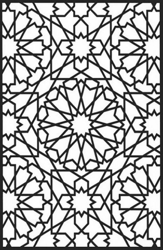 Geometric Design Colouring Pictures Stained Glass Colouring-Pages