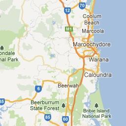 map of caloundra - Google Maps