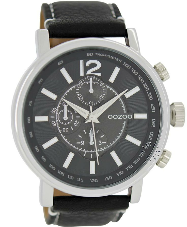 OOZOO Large Τimepieces Black Leather Strap Μοντέλο: C6049 Η τιμή μας: 69€ http://www.oroloi.gr/product_info.php?products_id=35861