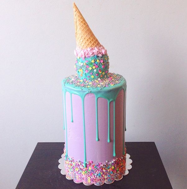 Australian Baker Katherine Sabbath shares some of her cake-decorating designs and tips, like the secret behind this drippy blue ganache!