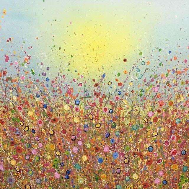 Endless Love Oil on Canvas By UK Flower Artist Yvonne Coomber