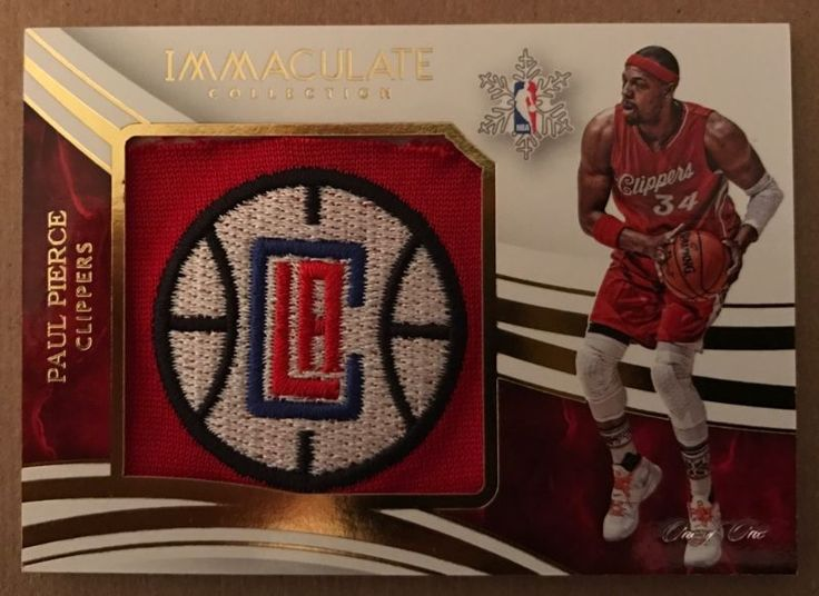 2015/16 IMMACULATE PAUL PIERCE CHRISTMAS CLIPPERS LOGO PATCH 1/1 MASTERPIECE!