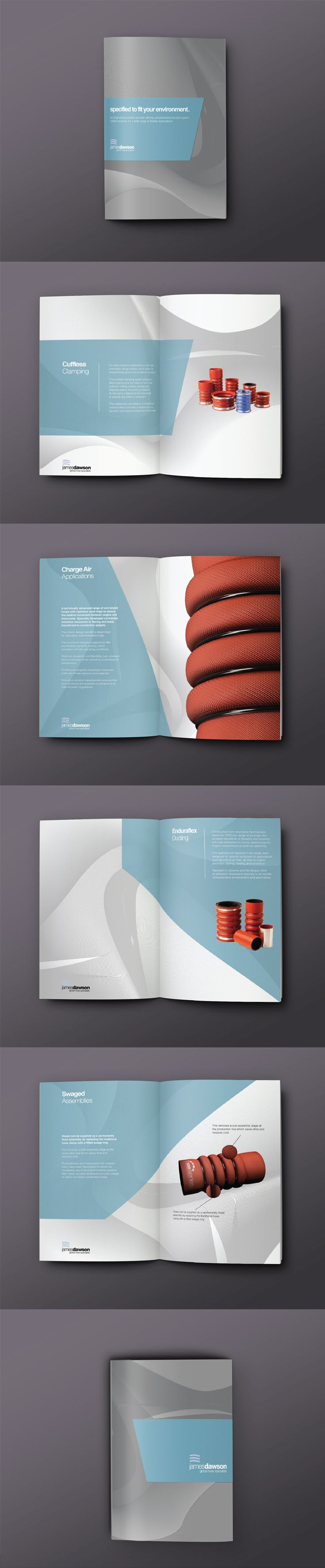 Conceptual brochure design for industruial hose company James Dawson.  www.sebastianandreas.co.uk