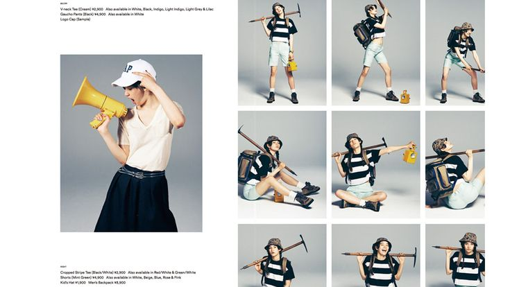 art direction : gap style book [Your summer tee styles to shine]