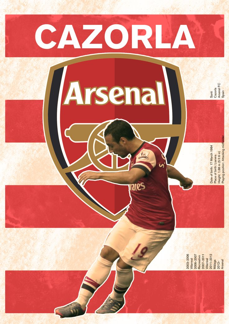 The Cazorla/Arsenal poster