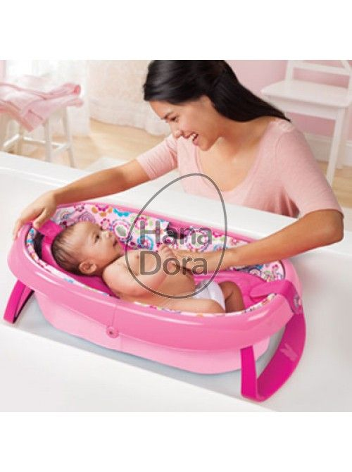 SUMMER INFANT EASYSTORE COMFORT TUB - PINK http://www.hanadora.com/bath-babycare/summer-infant-easystore-comfort-tub-pink.html