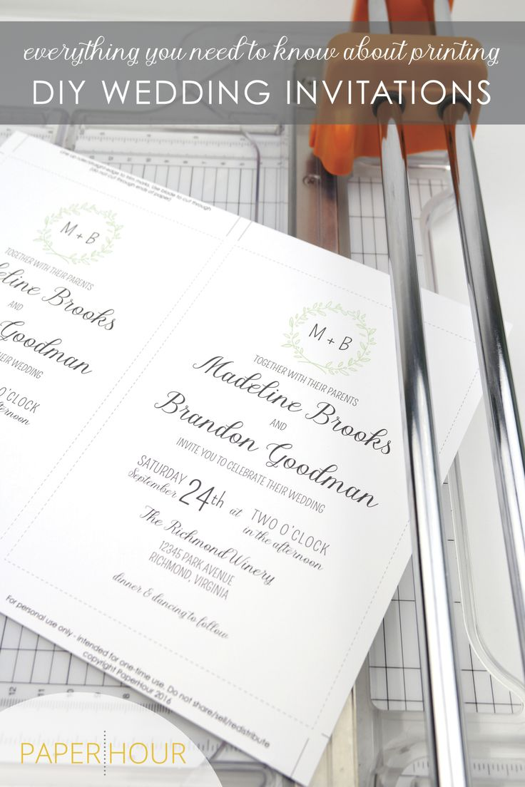 How to print DIY Wedding invitations. Everything you need to know about printing your invitations at home or using an online/local printing service!  #diywedding #printableinvitations #weddinginvitations